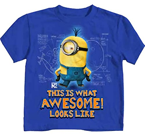 Despicable Me Awesome Royal Blue Juvy T-Shirt | S