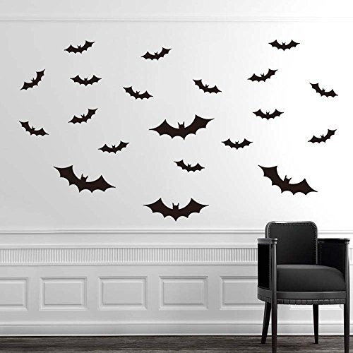 OTTATAT Wall Stickers for Bedroom Women 2019,DIY PVC Bat Wall Sticker Decal Home Halloween Decoration Easy to Peel Independence Day Sleeping Gift for Bride Clearance -
