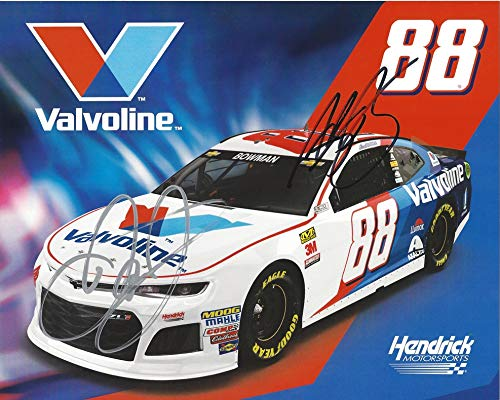 2X AUTOGRAPHED 2018 Alex Bowman   Dale Earnhardt Jr.  88 Valvoline Racing  Team (Hendrick Motorsports) Monster Energy Cup Series Signed Collectible  Picture ... 2f41098af64e