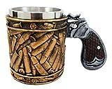 Atlantic Collectibles Western Revolver Gun Pistol With Ammo Bullet Round Shells Beer Stein Tankard Coffee Cup Mug 6.75''L