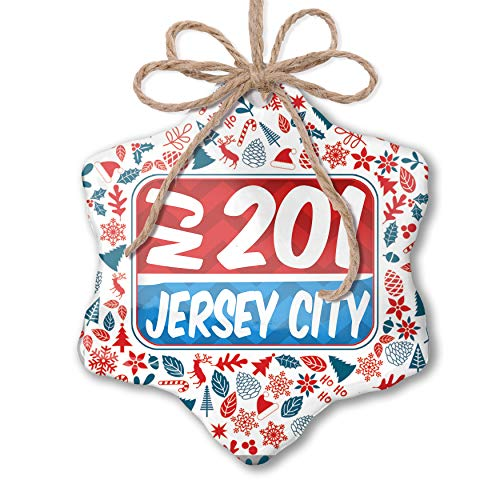 NEONBLOND Christmas Ornament 201 Jersey City, NJ red/Blue Red White Blue -