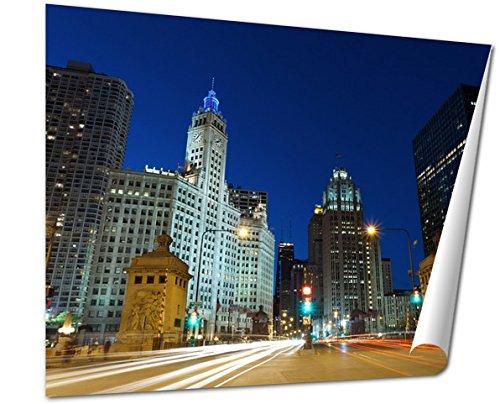 Ashley Giclee Fine Art Print, Michigan Avenue In Chicago, 16x20, - Chicago Avenue Best Buy Michigan