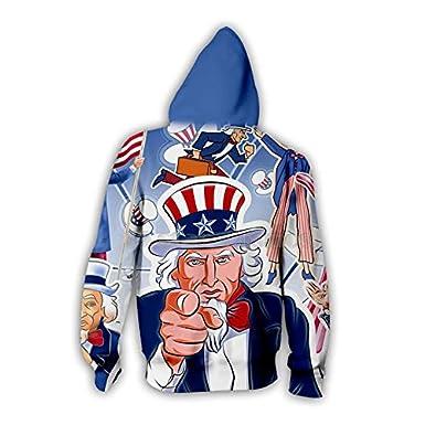 Independence Day USA Flag 3D T-Shirt//Hoodies Men Women American Flag Long Sleeve Summer Tees Top