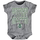 Outerstuff NCAA Colorado State Rams Newborn & Infant Destined Short Sleeve Bodysuit, Heather Grey, 0-3 Months
