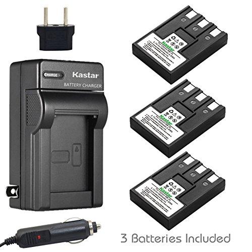 Kastar Battery (3-Pack) + Charger for Canon NB-3L, PowerShot SD10, SD100, SD110, SD20, SD500, SD550, Digital IXUS 700, 750, i5, Digital 30, 30a, 600, 700, D30, D30a, D53Z, IXY Digital L, Digital L2 ()