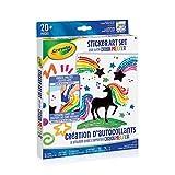 Crayola Crayon Melter Sticker Art Set, Holiday Kids, Age 8, 9, 10, 11