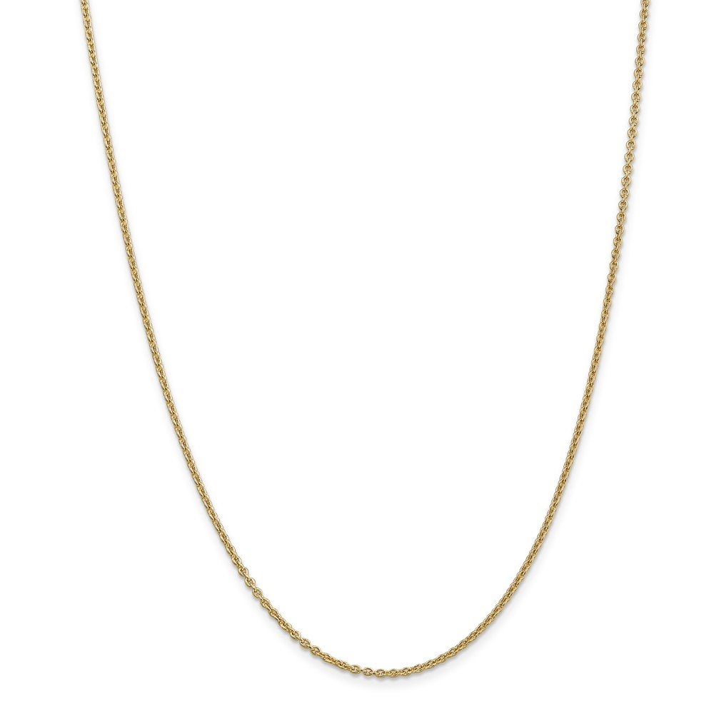 Leslie 14k 1.95 mm Round Cable Chain Necklace - 16 Inch