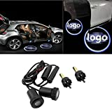 Spevert 1 Pair Universal Car LED Projector Door Shadow Welcome Light Emblem Logo Lamp Kit for F-o-rd All Series
