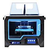 QIDI TECHNOLOGY 3D PRINTER New Model: X-Pro ,4.3 Inch Touch Screen,Dual Extruder With 2 Spool of Filament,Works With ABS And PLA