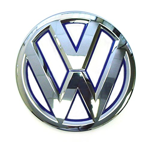 Genuine VW Front Grille Emblem Jetta-Hybrid 2013-2014 with Blue Inset 5C6853601DLIP