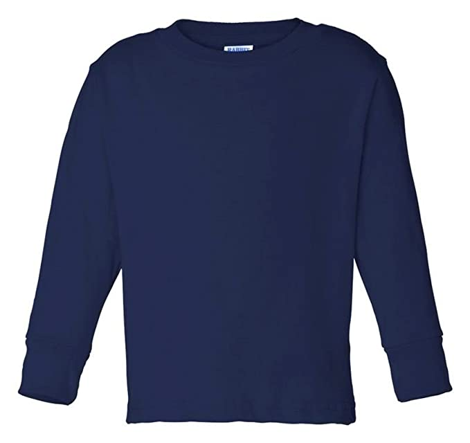 cc3e15060 Image Unavailable. Image not available for. Color: Rabbit Skins Toddler  Long-Sleeve T-Shirt (Navy) ...