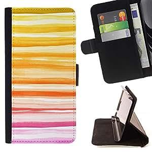 Momo Phone Case / Flip Funda de Cuero Case Cover - Amarillo atardecer de verano melocotón Líneas - Sony Xperia Style T3