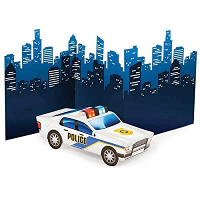 Creative Converting 329394 CENTERPIECE 3D POLICE CAR, One size, Multicolor: Kitchen & Dining