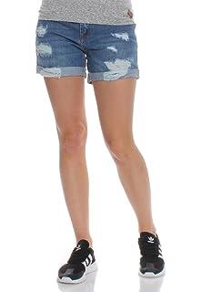 e42af0235e48 Superdry Shorts Damen STEPH BOYFRIEND SHORT Dive Blue  Amazon.de ...