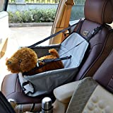 Treat Me Portable Pet Car Booster Seat Mesh Waterproof Sided Travel Cars Bag for Pets Accessories (Black)