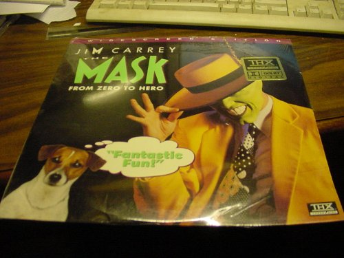 Mask Disc - Laser Disc, Laserdisc of Jim Carrey In THE MASK, From Zero to Hero.