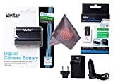 Vivitar EN-EL15 Ultra High Capacity 2500mAh Li-ion Battery + AC/DC Vivitar Rapid Travel Charger + Microfiber Lens Cleaning Cloth EL15 ENEL15 (Nikon EN-EL15 Replacement)