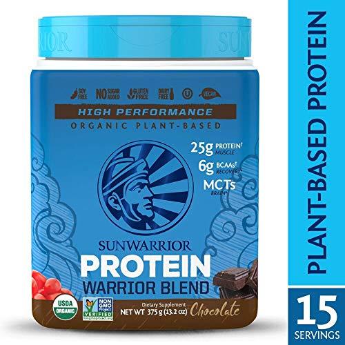 Sunwarrior – Warrior Blend, Plant Based, Raw Vegan Protein Powder with Peas & Hemp, Chocolate, 15 Servings