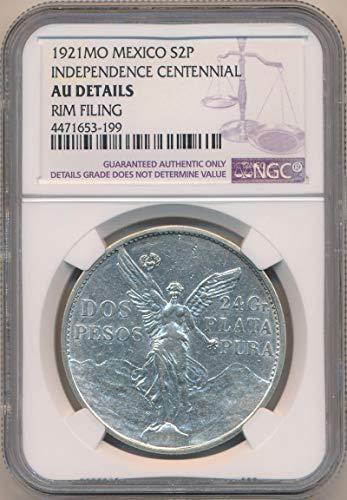 (1921 MX Silver 2 Peso AU Details NGC)
