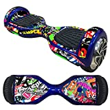 Hoverboard Gold Chrome Best Deals - FBSport Board Hover Board Hover Skins Decal,Protective Vinyl Skin Stickers Wrap for 6.5 inches Self Balancing Board HoverScooter Leray Sogo Glyro Swagway X1 Decals Cover( Word )