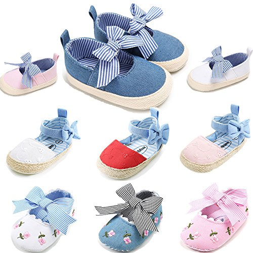 Mary Blue Canvas Jane (Isbasic Baby Girls Knit Soft Sole Toddler Mary Jane Sneakers Casual Canvas Shoes (0-6 Months, Blue))