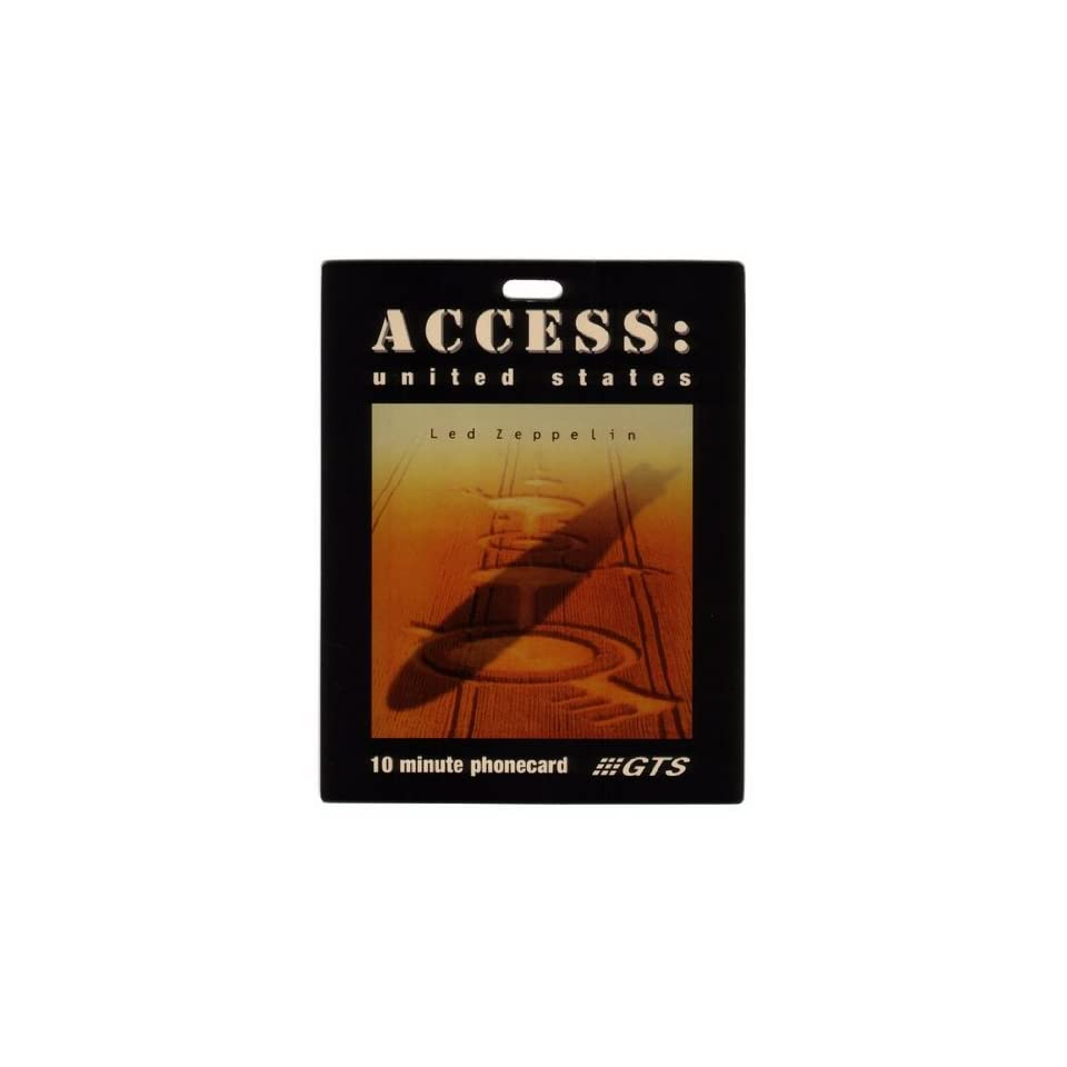 Collectible Phone Card 10m Led Zeppelin Music Album Box Set Cover   Back Stage Pass Jumbo