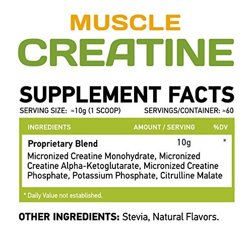 MUSCLE FOOD LABS Muscle CREATINE ★ 3 forms of Creatine ★ Micronized (Fruit Punch)