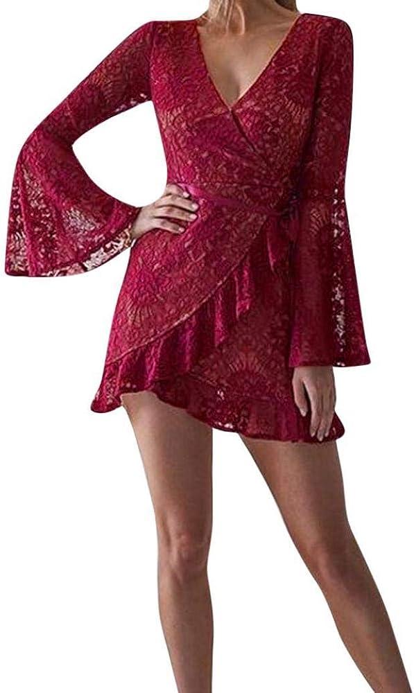 POLP Vestidos Cortos Wine ◉ω◉Sexy Vestidos Mujer Elegantes Tallas ...