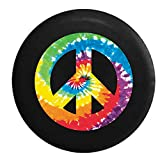 Full Color Tie Dye Peace Sign Jeep Spare Tire Cover