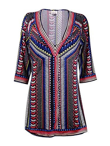 Bar Iii V-Neck Printed Tunic Cover-Up, Only at Macy's Women's - Macys Hilo