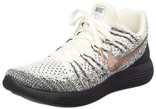 Nike Mens Lunarepic Low Fk 2 X-plore, Bianco / Mtlc Rosso Bronzo-nero, 10,5 M Us