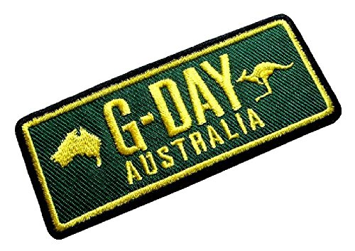 Cute Pretty G-Day Good Day Australia Map Kangaroo Logo Bags Jeans Jackets Embroidered Iron on Patch Free Shipping (Free Shipping Australia)