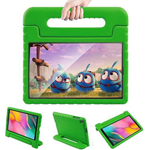 LTROP Samsung Galaxy Tab A 10.1 Kids Case - Shockproof Light Weight Protection Handle Stand Case for Samsung Galaxy Tab A 10.1 Inch (SM-T510/T515) Tablet 2019 Release Not Fit Other Models - Green (Best Tablets 2019 For Kids)
