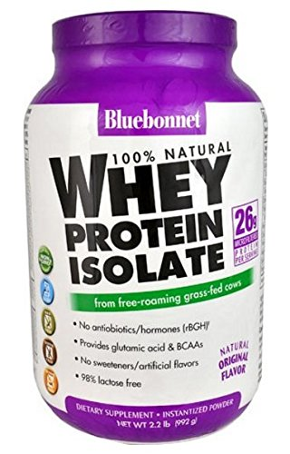 BlueBonnet 100% Natural Whey Protein Isolate Powder, Original, 2.2 Pound