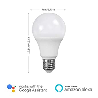 Bombilla LED Inteligente WiFi, UMIWE E27 Regulable Temporizador Iluminación Inteligente, Compatible con Amazon Alexa, Apple Homekit y Google Assistant ...