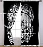 HANDICRAFT-PALACE Head of Skull Mandala Indian Boho Style Centre Pattern Art Curtain 2 Panels Set, Curtains 2 PC Style Traditional Hippie by Handicraftspalace For Sale