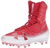 Under Armour Men's Highlight MC Football Shoe Red (601)/White 6.5
