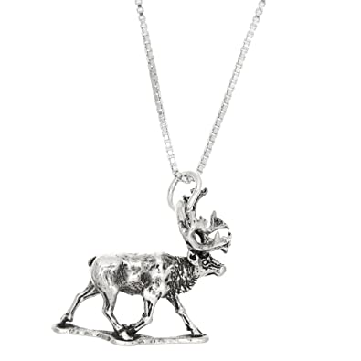 Amazon sterling silver oxidized three dimensional large walking amazon sterling silver oxidized three dimensional large walking moose necklace 16 inches pendant necklaces jewelry aloadofball Images