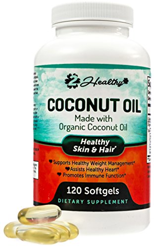 Organic Coconut Oil Capsules Supplements product image