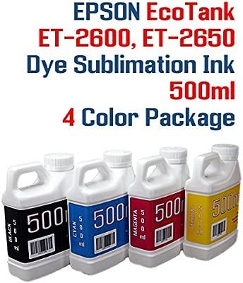 Sublimación de Tinta 4 500 ml Botellas - EcoTank ET-2600, et ...