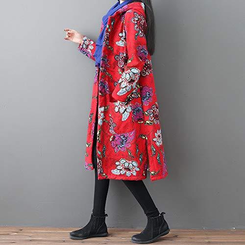Rouge nbsp; Blouse Mode Tops Sweatshirt Femme Hiver À Imprimer Blouson Manteau Shobdw Capuche Pullover Chauds Hoodie Vêtements Veste Retro Uq4g4Anp