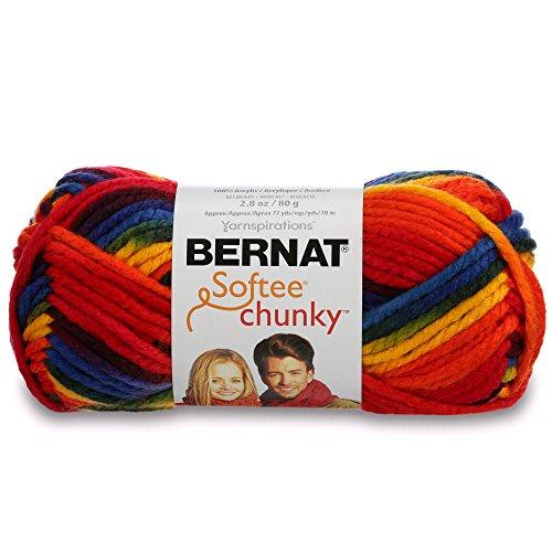 Bernat Softee Chunky Ombre Yarn - (5) Bulky Chunky Gauge 100% Acrylic - 2.8 oz - ee School Yard - Machine Wash & Dry