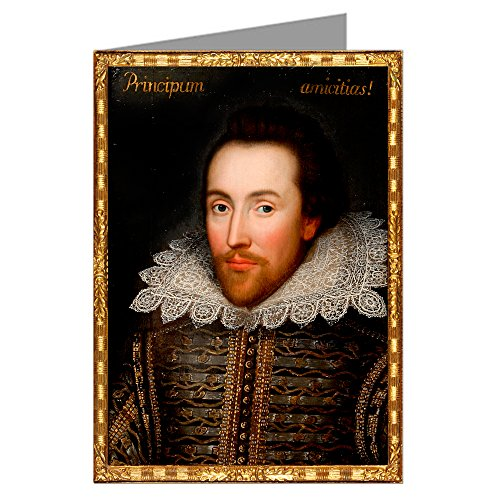 12 Vintage Notecard Set of The Archbishop Charles Cobbe (1686-1765) Portrait of Shakespeare, Painted from Life.