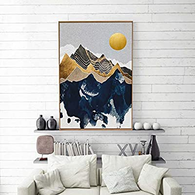 Framed Canvas Home Artwork Decoration Nordic Style Abstract Color Canvas Wall Art for Living Room, Bedroom - 24x36 inches