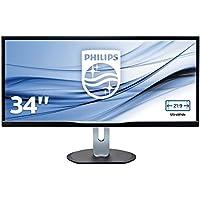 Philips 34 - 3440 x 1440 QHD - AH-IPS 320 cd/m2 1000:1 40000000:1, BDM3470UP_00 (320 cd/m2 1000:1 40000000:1 5ms, VGA, DVI, HDMI, DisplayPort, USB 2.0 x 2, USB 3.0 x 2)