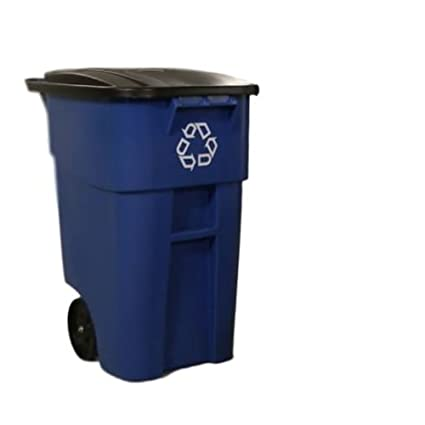 Amazoncom Gt Recycle Bin Trolley Garbage Can Trash Cart With