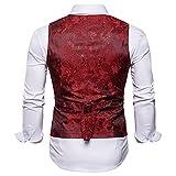 WANNEW Mens Vest Suit Vests Tuxedo Vest Vest for