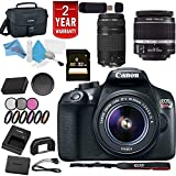 Canon Eos Rebel T6 Digital SLR Camera w/18-55 is II Lens + Canon 75-300 ED III Dual Lens USA Bundle For Sale