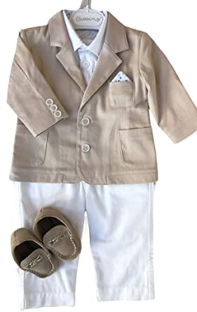 994b212113fe Amazon.com  Fenghuavip Cute Baby Boy Christening Outfits Suits 3Pcs ...