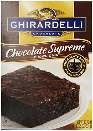 Ghirardelli Chocolate Supreme Brownie 18 75